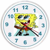 Relógio De Parede Decorativo Infantil Bob Esponja Barato