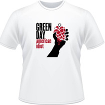 Camiseta Green Day American Idiot Billie Joe Rock Camisa