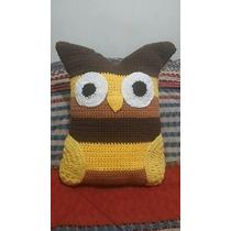 Almohadon Tejido Al Crochet Lechuza