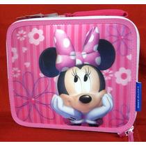 Disney Lonchera Mimi Minnie Mouse Escolar Termica 3d Nueva