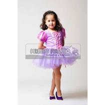 Disfraz Vestido Corto Estilo Rapunzel