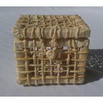 20 Mini Cestas De Palha Baú Para Lembrancinhas - 12x11x10