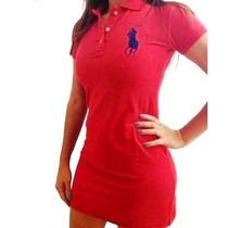 Vestido Feminino Gola Polo P, M, G, Gg.