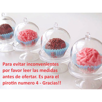 10 Souvenir Cúpula Cápsula Mini Porta Cupcake Campana 8x5,5
