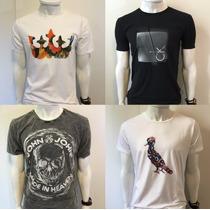Camiseta Osklen Calvin Klein Jeans Sergio K Armani Ellus Ck