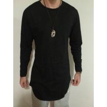 Camiseta Masculina Oversized Swag Longa 100% Algodão