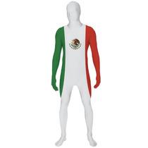 Disfraz Morphsuit Mexicano Mediano Oficial Bandera México M
