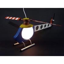 Luminária Abajur Helicóptero Quarto Menino Infantil Bebê