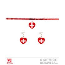 Enfermeras Traje - Enfermera Gargantilla Y Pendientes Señor