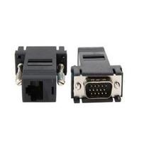 Adaptador Extensor Vga Video Via Cabo Rede Rj45 Conector Ros