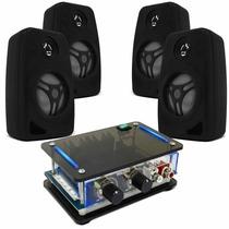 Som Ambiente Amplificador + 4 Caixa P/ Dvd Pc Notbook