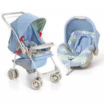 Kit Carrinho Bebê Milano Galzerano E Bebê Conforto Piccolina