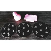 Plantillas Uñas +sello +espatula 21 Figuras Manicura Esmalte