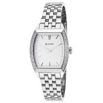 Reloj Bulova 96r196 Es Diamond Gallery Stainless Steel