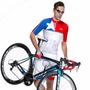 Conjunto De Ciclismo. Tricota Y Calzas Con Tirantes
