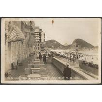Rio De Janeiro - Praia De Copacabana - Foto Postal Antigo