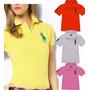 Kit 05 Polo Feminina Camiseta Babylook Blusa Malha Piquet!