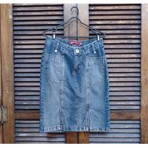 Saia Midi Jeans Tamanho 38