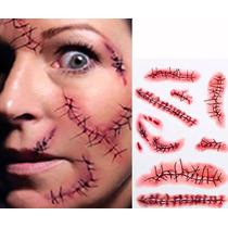 Disfraz Tatoo Temporal Cicatrices Halloween Fiesta