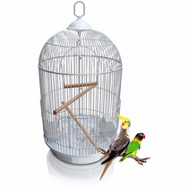 Gaiola Pássaros Redonda Grande Luxo