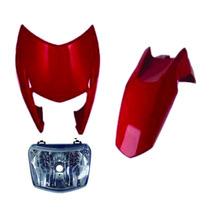 Carenagem+farol+paralama Diant Bros 125 Vermelho 2013
