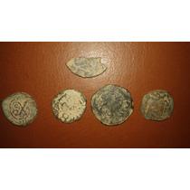 Lote 5 Monedas De La Colonia Española Maravedí