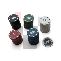 Kit Fichas Poker Profissional Super Luxo 100 Fichas