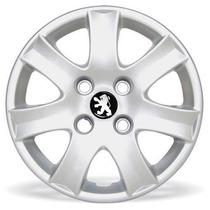 Jogo Calota Peugeot 206 207 307 Aro 14 Emblema Resinado