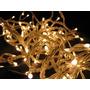 Luces Navidad Led X100 Luces Cálidas 10 Metros Cable Cristal