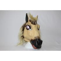 Máscara Cabeça De Cavalo Borracha Halloween Festa Fantasia