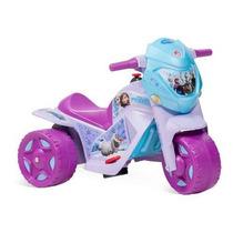 Ban Moto Eletrica Infantil Frozen Menina Motoca Bandeirante