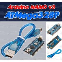 Arduino Nano V3 Con Atmega328 Y Chip Ch340 + Cable Usb