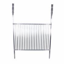 Grelha Aluminio Churrasco Reforçado 55x40 Cm Facil Limpeza