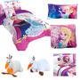 Paquete De Edredón,sábanas,almohada,cojín,comfy Frozen 4