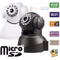 Câmera Ip Sem Fio P2p E Qrcode Nova Versão Fácil Instalação