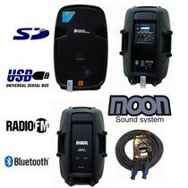 Bafle Moon Combo X 2 Unid 15 Bluetooth Sd Usb Radio 800w Rms