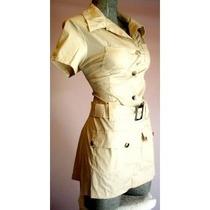 Mini Vestido Bluson Popelina Algodon Moda Primavera Verano