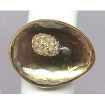 Pocao2005- Anel De Ouro 18k750 Diamantes Grife Vivara