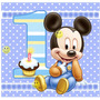 Kit Imprimible De Mickey Mouse Bebe Con Candy Bar Tarje Foto