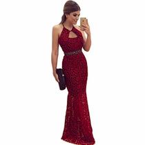Vestido De Festa À Noite Luxo Importado Frete 15 Reais