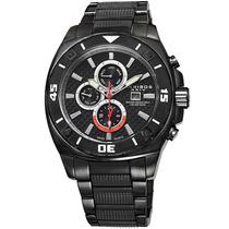 Reloj Akribos Xxiv Ak652bk Es Black Ip Stainless Steel And