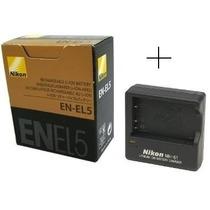 Bateria Nikon En-el5 Original + Carregador Mh-61 P520 P530