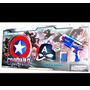 Capitan America Civil War Mascara + Escudo + Pistola 3 En 1