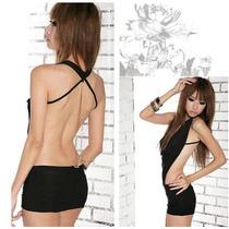 Micro Vestido Transparente Com Calcinha Mini Sexy