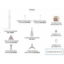 Torre Arriostrada 30 Metros Kit Completo Telecomunicaciones!