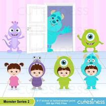 Kit Imprimible Monsters Inc Imagenes Clipart Cod 3