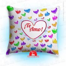 Cojín Enamorados San Valentin Romántico Corazones Gemas