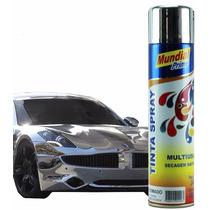 Tinta Spray Uso Geral Automotivo Seca Rápido - Cromado 400ml