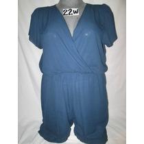 Vestido/short Azul Talla 22w Extragrande P-gordita