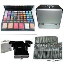 3 Art Maquillaje Profesional Maletin + Paleta + Pinceles